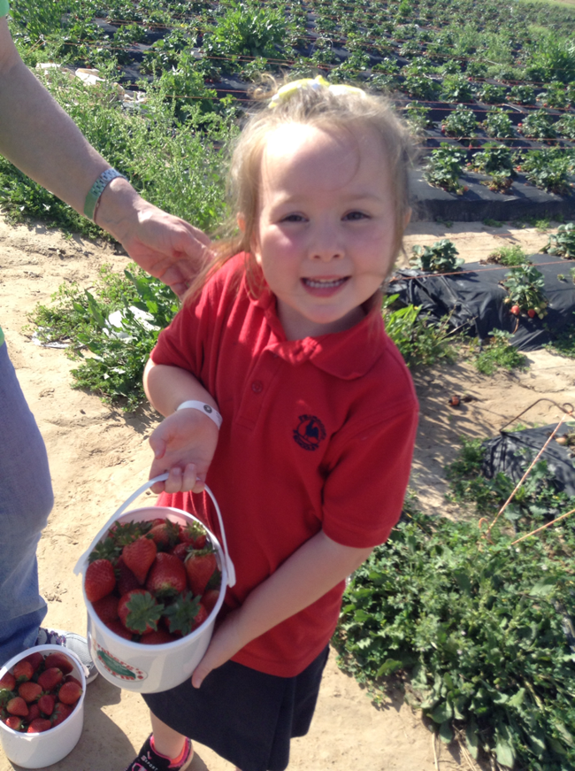 child from Primrose Preschool in Friendswood at Froberg's Farm