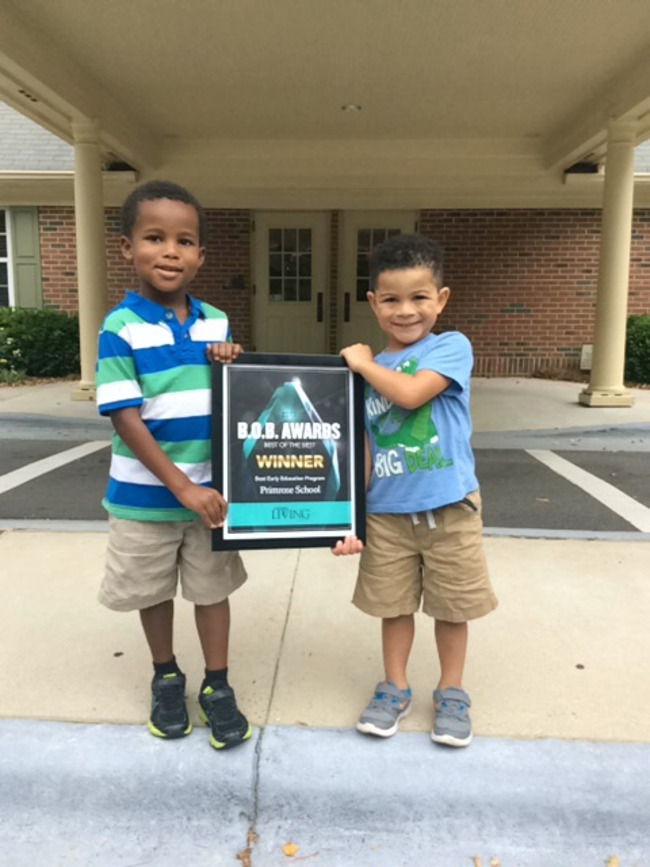 """2017 B.O.B best of the Best Award for """"Best Early Education Program"""" Presented by Cary Living"""