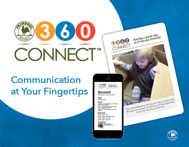 Poster for the Primrose schools 360 connect initiative