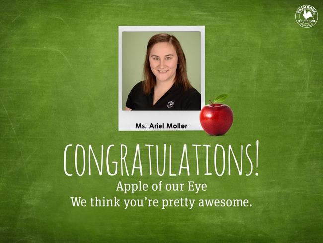 Apple of Our Eye; Ms. Ariel Moller