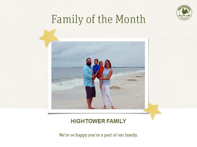 Congratulations on being our March Family of the Month!
