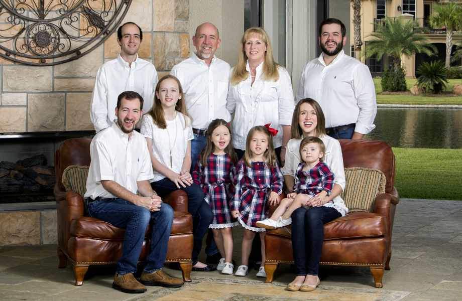 Franchise Owners of Primrose School of Champions Kevin and Peggy Keller with their family