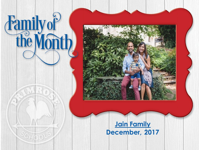 Family of the Month, the Jain Family