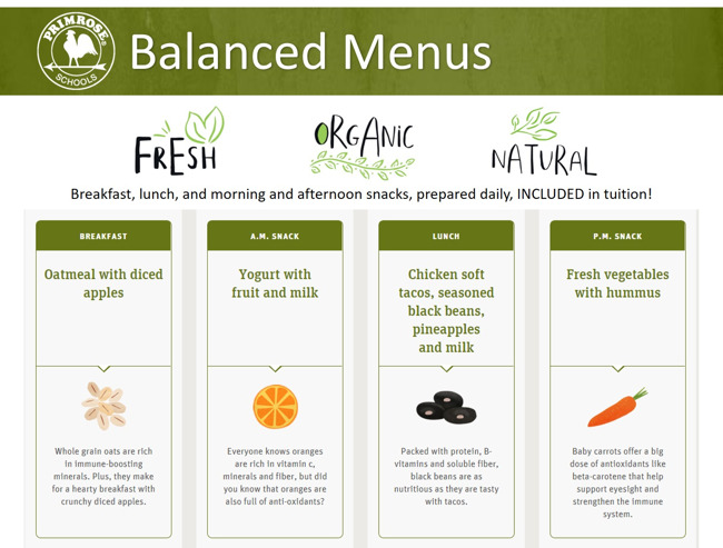 Balanced organic fresh local produce at primrose atlanta westside's kitchen