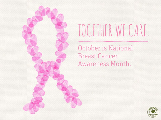 Flyer identifying October as Breast Cancer Awareness Month