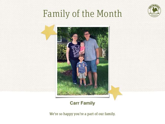 family of month - september