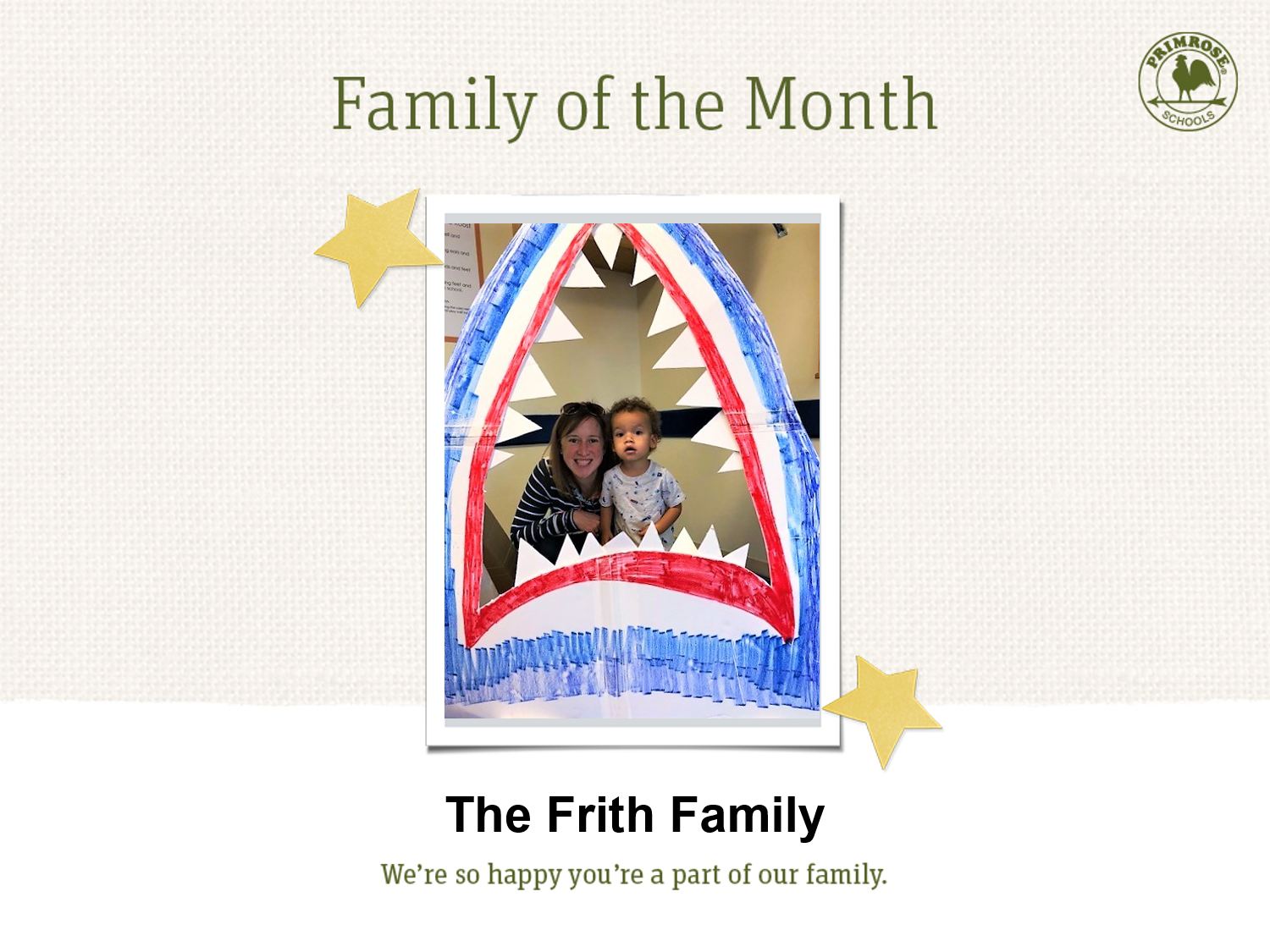 May's Family of the Month -Frith Family