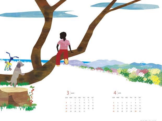 3-4月カレンダー