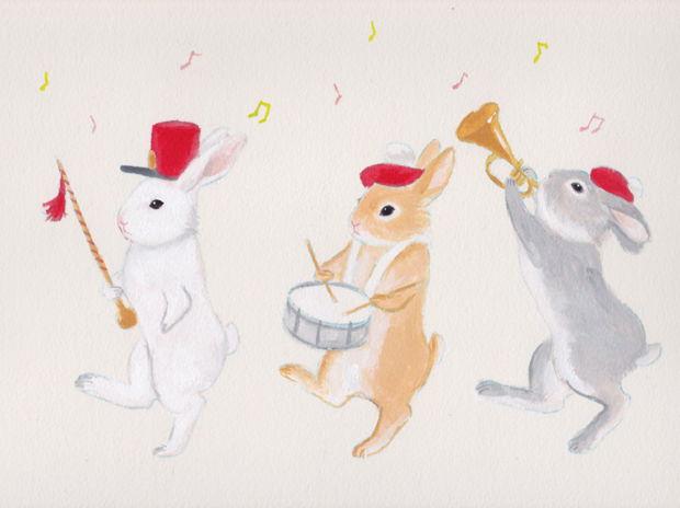 うさぎの鼓笛隊
