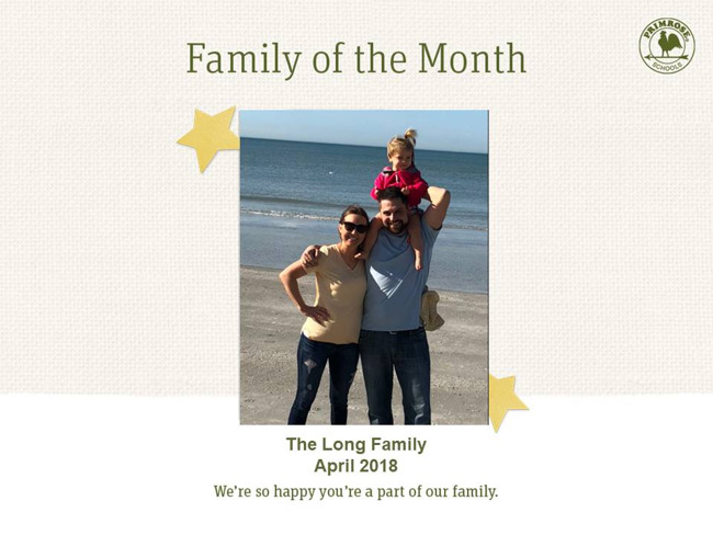 long april family of the month