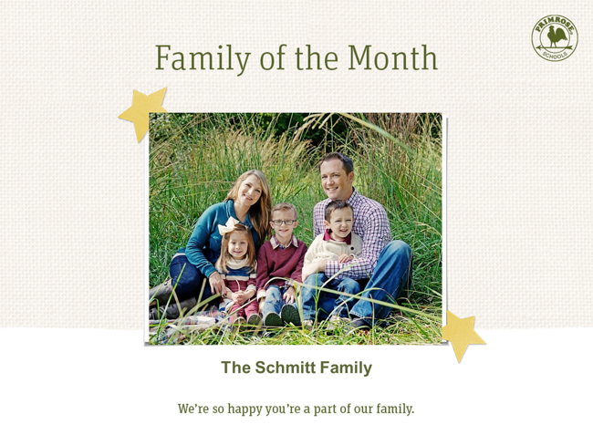Family of the Month - The Schmitt Family