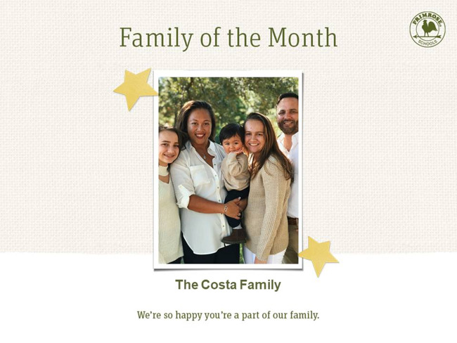 """Family of the Month """"The Costa's"""""""