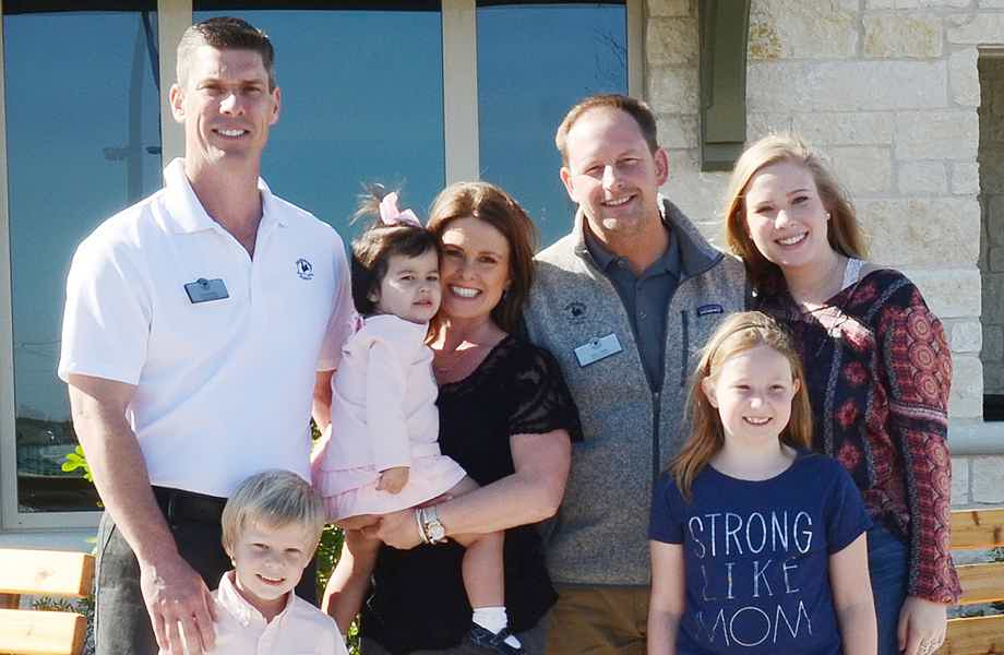 Franchise Owners of Primrose School Chris and Shannan Rolfsen & Jerry Gillies with their family