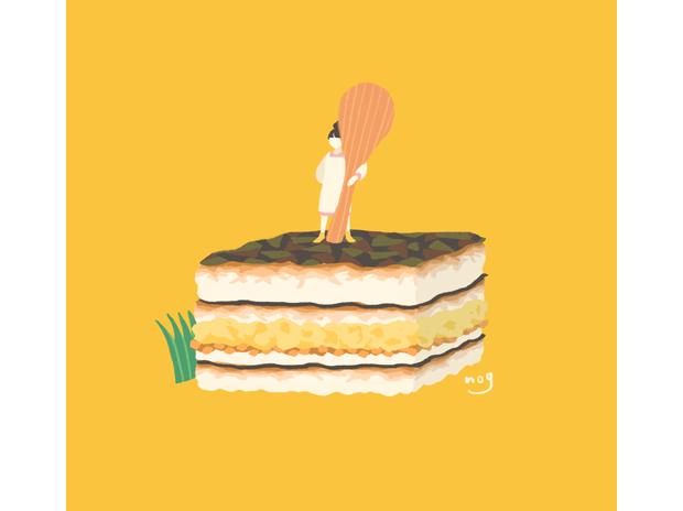 ジャパニーズサンドイッチ(のり弁)