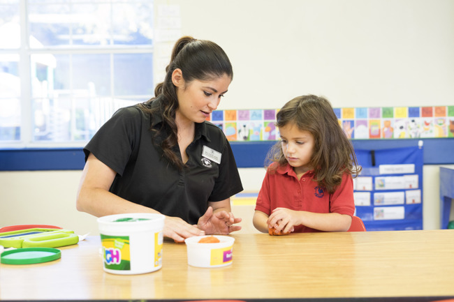 teacher student preschool learning education