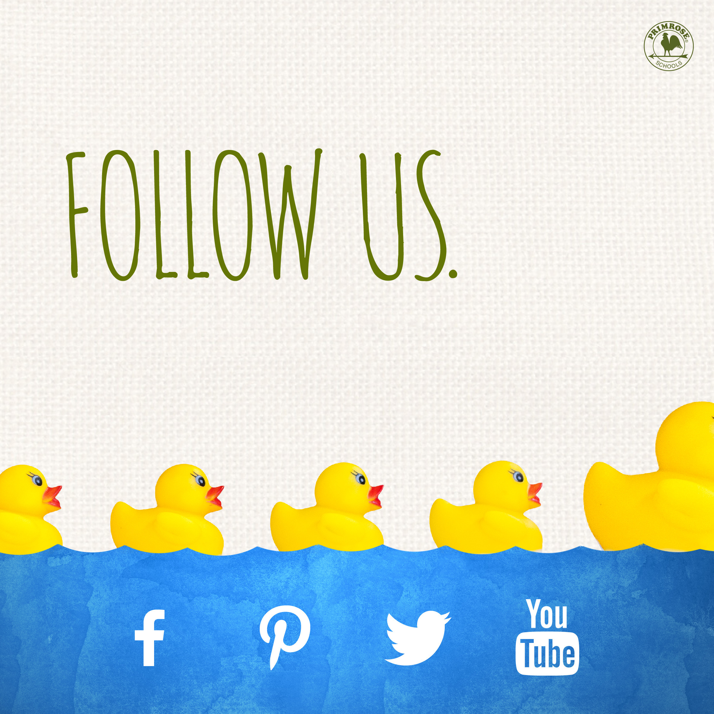 follow facebook instagram pinterest youtube social media