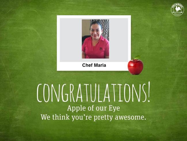 chef apple primrose preschool teacher school education learning award