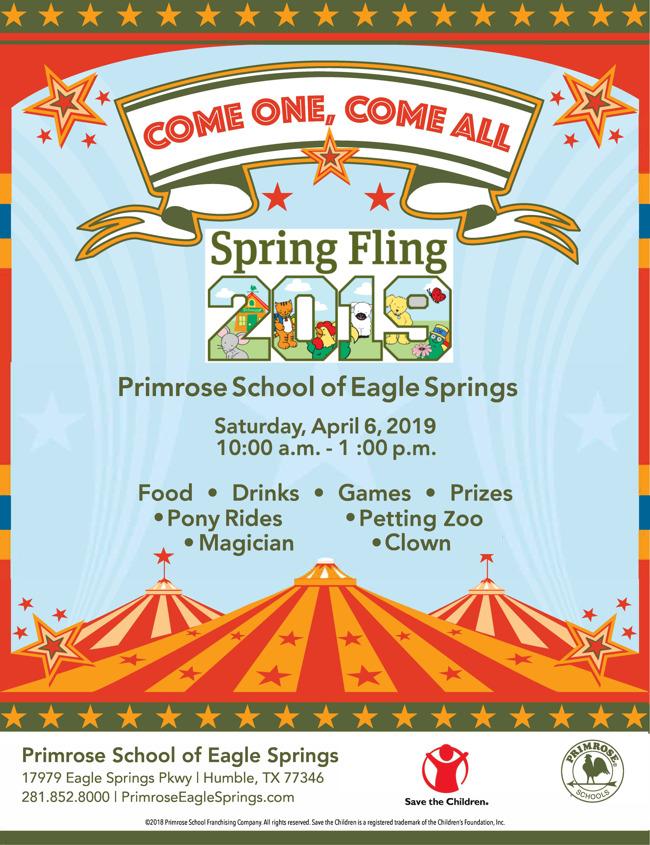 Spring Fling Carnival, Saturday April 6 2019