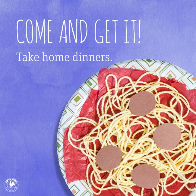 take home dinner parent appreciation
