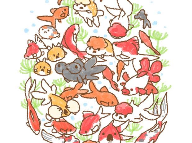 #RTされた数だけ金魚を描く