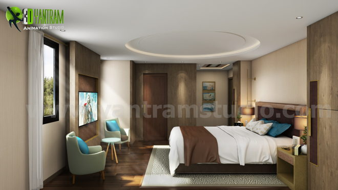 Interior Bedroom Design with home renovation concept by Animation ...