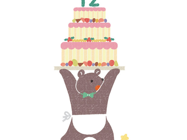 くまシェフとクリスマスケーキ