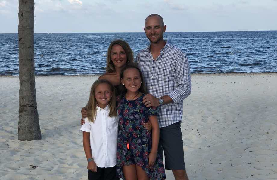 Franchise Owners of Primrose School Josh and Rosemary Briggle with their daughters
