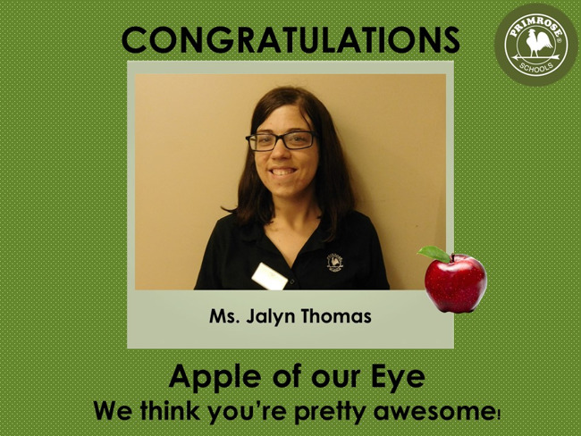 Apple of our Eye - Ms. Thomas