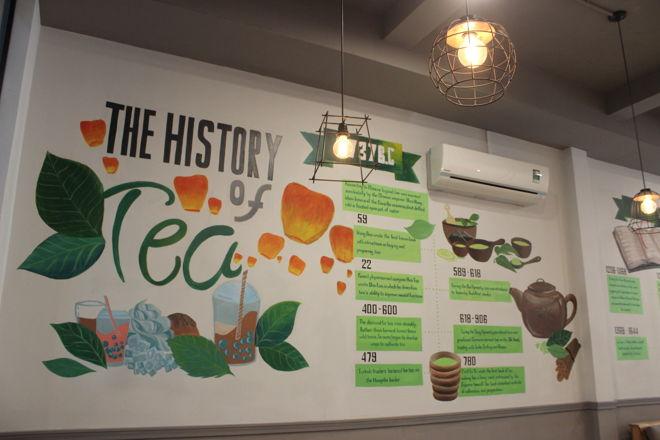 The History Of Tea acrylic