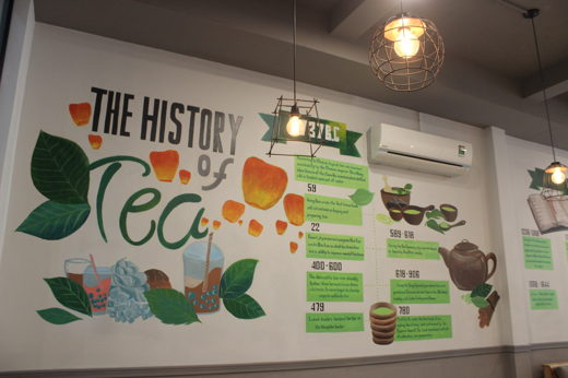 The History Of Tea acrylic