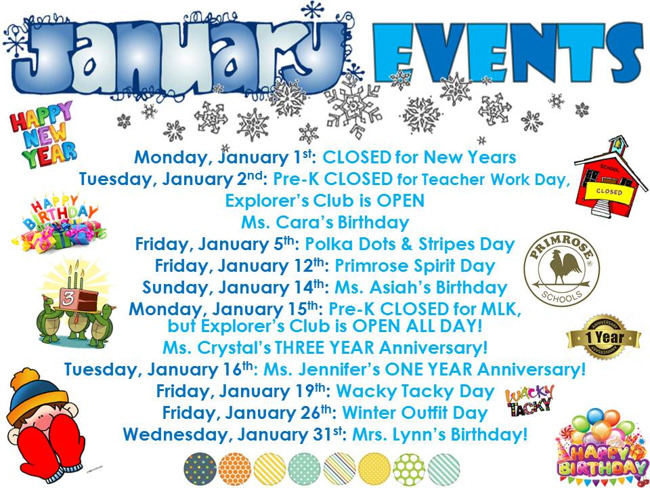 January Events