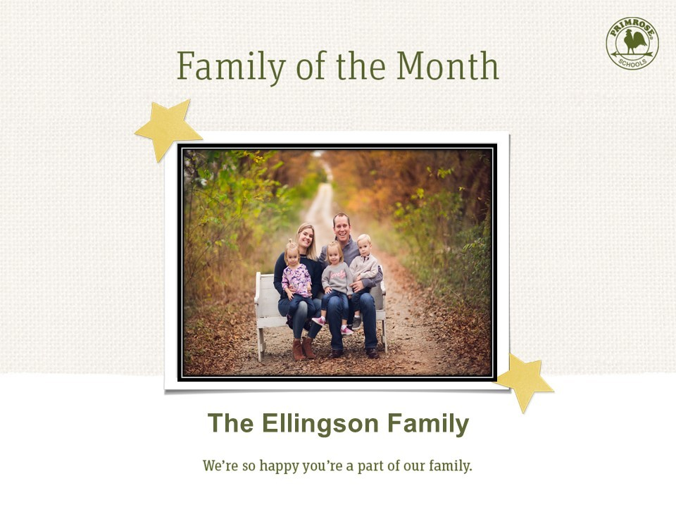 family of the month blonde triplet bench fall family picture leaves orange brown yellow red blue