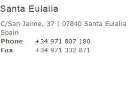 Contact Santa Eulalia Shop