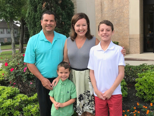 Pearson Family of the month at Primrose School of Champions