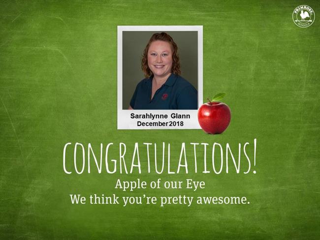 Sarahlynne Glann december apple of our eye