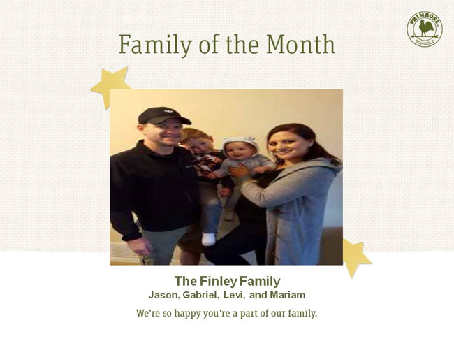 October Family of the Month