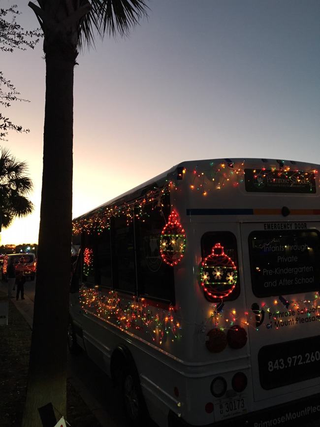 bus with lights