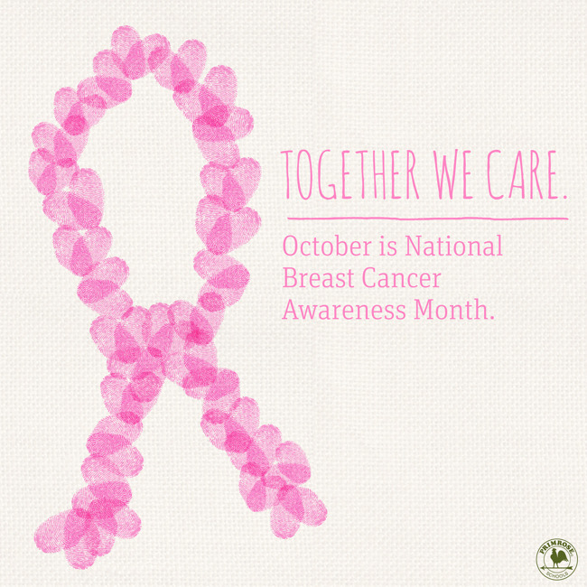 Pink Breast Cancer Awareness ribbons recognize the importance of early detection
