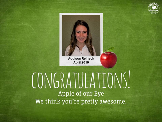 addi reineck april 2019 apple of our eye