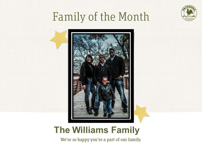 Congratulations on being our June Family of the Month!