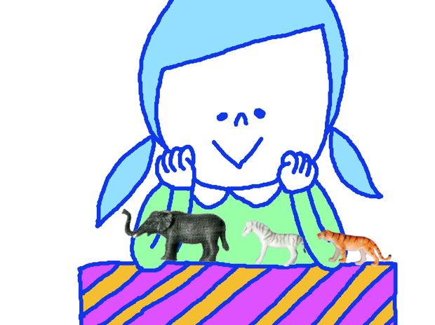 小さな動物たちと女の子02