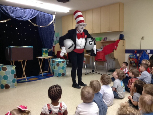 Sister Cat Visits to Read and Perform a Magic Show
