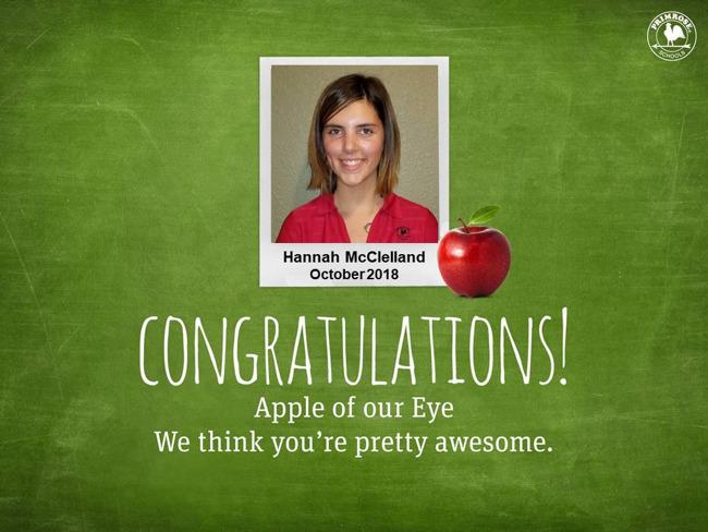 hannah mcclelland october apple of our eye