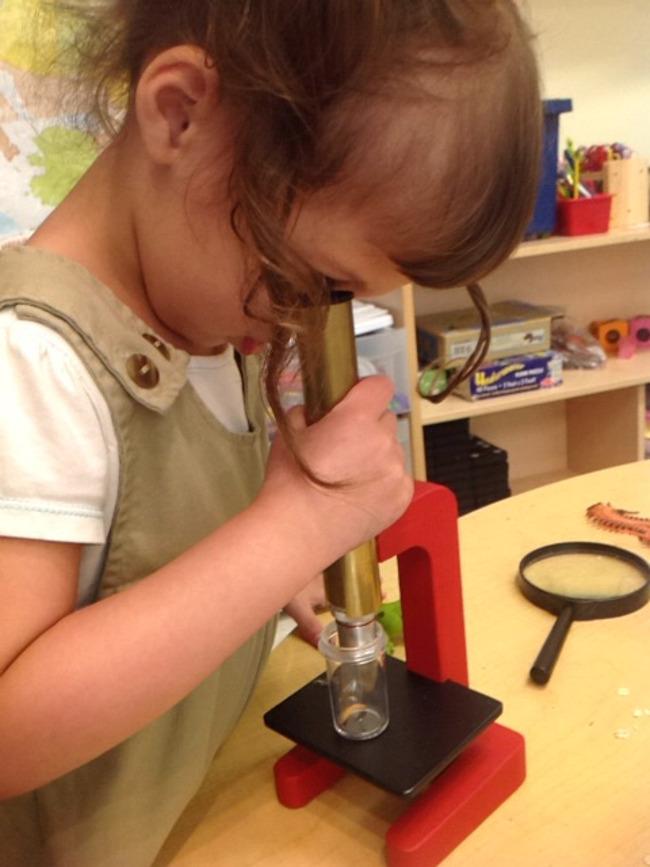 west Wichita daycare children work on daily hands on activities!