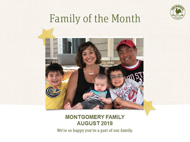montgomery august family of the month