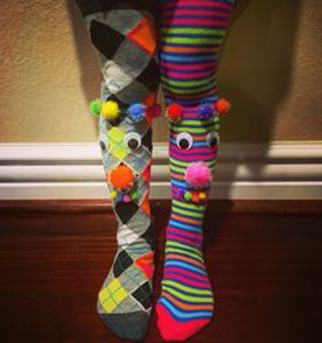 Happy Friday-Crazy Sock Day Friday March 29th!