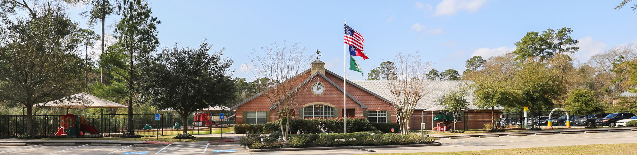 Exterior of a Primrose School of The Woodlands at College Park