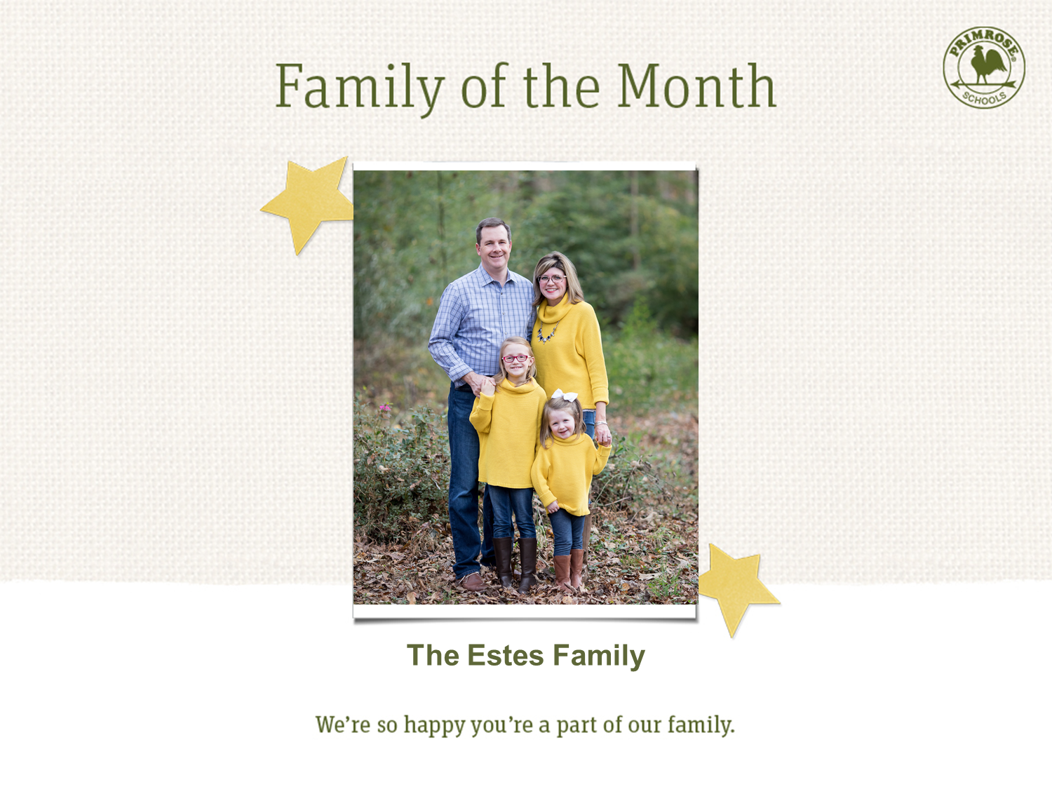 The Family of the Month (April)