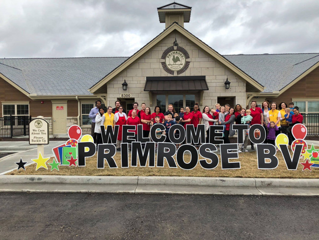First Day of School - Primrose School of Blue Valley