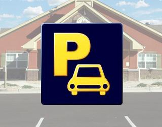 Parking lot logo
